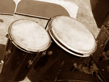 Bongos. Old Bongos - A percussion instrument Royalty Free Stock Images