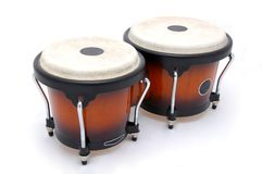 Bongos d'isolement Photos libres de droits
