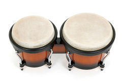 Bongos isolated on white Royalty Free Stock Images