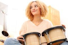 Bongos, percusión Imagen de archivo libre de regalías
