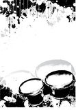 Bongos poster background Royalty Free Stock Photography