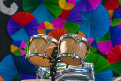 Bongos, tambour de bongo Image libre de droits