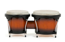 Bongos on white background Stock Images