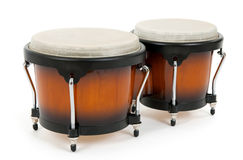 Bongos on white background Royalty Free Stock Photography