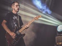 Bongripper在音乐会2017死命金属居住 库存照片