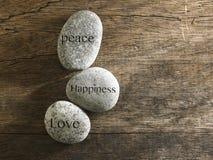 Bonheur d'amour de paix Photo stock