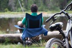 Bonheur de camping Images stock