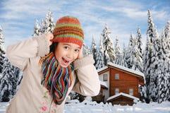 Bonheur de l'hiver Images libres de droits