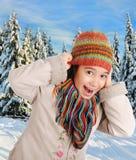 Bonheur de l'hiver Image libre de droits