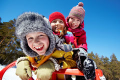 Bonheur de l'hiver Photo libre de droits