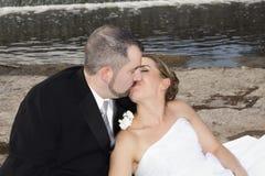 Bonheur de mariage Photographie stock