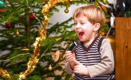 Bonheur de Noël Photo libre de droits