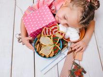 Bonheur de Noël Tout pour l'enfant Images stock