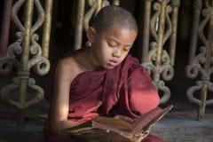 Bonheur de novice en Birmanie Images stock