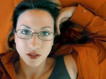 Bonheur orange Photographie stock libre de droits