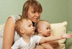 Bonheur parental (partie II) Photographie stock libre de droits