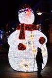 Bonhomme de neige électrique. Photo libre de droits