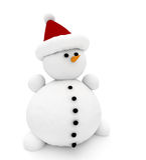 bonhomme de neige 3d illustration libre de droits