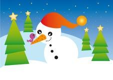 Bonhomme de neige illustration libre de droits
