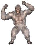Bonhomme de neige abominable, yeti, Gorilla Isolated illustration libre de droits