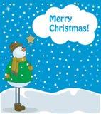 Bonhomme de neige avec l'étoile Photo libre de droits