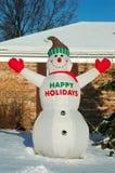 Bonhomme de neige bonnes fêtes Photo libre de droits