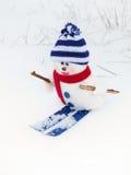 Bonhomme de neige - carte de Noël Photographie stock libre de droits