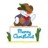 Bonhomme de neige-cowboy Image libre de droits