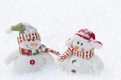 bonhomme de neige d'amis Images libres de droits
