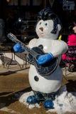 Bonhomme de neige d'Elvis Photos libres de droits