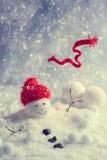 Bonhomme de neige d'hiver Images libres de droits