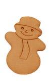 Bonhomme de neige d'isolement de pain d'épice Image stock