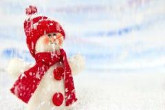 Bonhomme de neige dans la neige Photos libres de droits