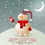 Bonhomme de neige de cru de Noël. illustration de vecteur