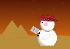 Bonhomme de neige de désert illustration libre de droits
