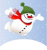 Bonhomme de neige de dessin animé Photos libres de droits