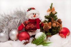 Bonhomme de neige de fête image libre de droits