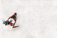 bonhomme de neige de fond neigeux Image stock