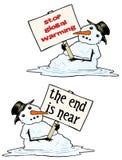 Bonhomme de neige de fonte Images stock