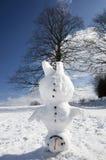 Bonhomme de neige de Headstand Photographie stock libre de droits
