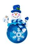 Bonhomme de neige de jouet de Noël Images libres de droits