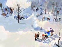 bonhomme de neige de légende Photos libres de droits