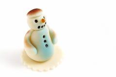Bonhomme de neige de massepain image libre de droits
