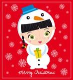 Bonhomme de neige de Noël Images libres de droits