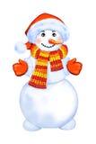 Bonhomme de neige de Noël Illustration de Vecteur