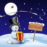 Bonhomme de neige de Noël Photographie stock