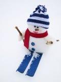 Bonhomme de neige de Noël Photographie stock libre de droits