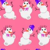 Bonhomme de neige de Noël. background.textu Photo libre de droits
