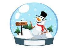 Bonhomme de neige de Noël dans le cadre Photographie stock