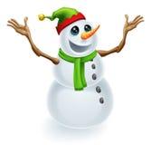 Bonhomme de neige de Noël heureux Photo libre de droits